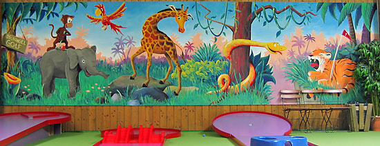 Jimmys Fun Park wall painting